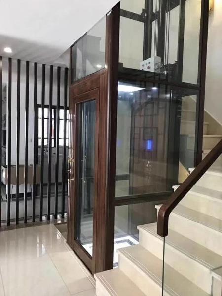 盛隆御观邸一体式观光井道钢带式别墅梯